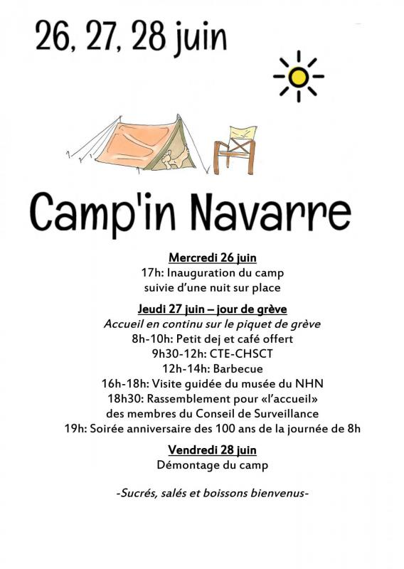 CAMP'IN NAVARRE