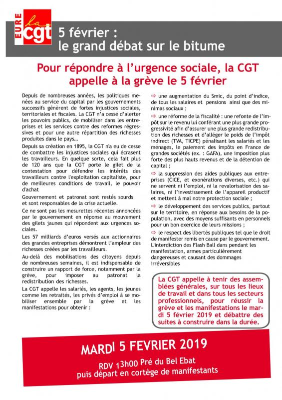 Tract ud 5 fevrier